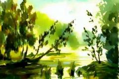 11. Пейзаж (бумага, акварель)