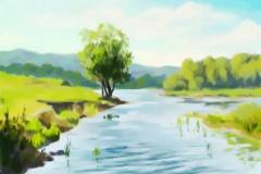14. Пейзаж (холст, масло)