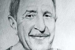 12. Портрет рисунок (бумага, карандаш)
