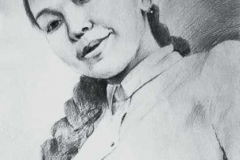 13. Портрет рисунок (бумага, карандаш)