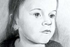 14. Портрет рисунок (бумага, карандаш)