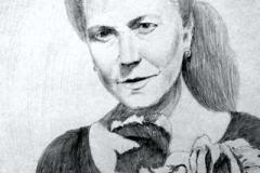 15. Портрет рисунок (бумага, карандаш)