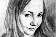 2. Портрет рисунок (бумага, карандаш)