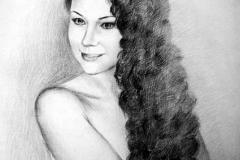 3. Портрет рисунок (бумага, карандаш)