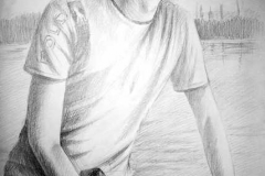 5. Портрет рисунок (бумага, карандаш)