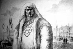 6. Портрет рисунок (бумага, карандаш)