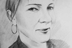 8. Портрет рисунок (бумага, карандаш)