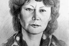 9. Портрет рисунок (бумага, карандаш)