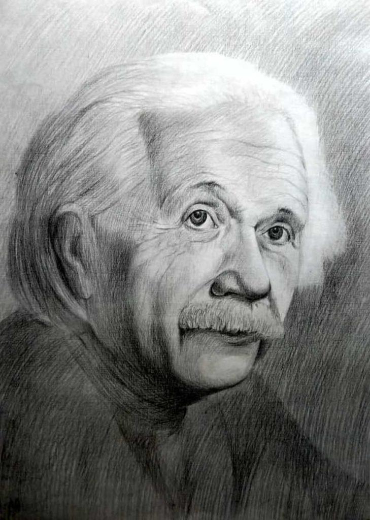 Портрет (графика, бумага карандаш)
