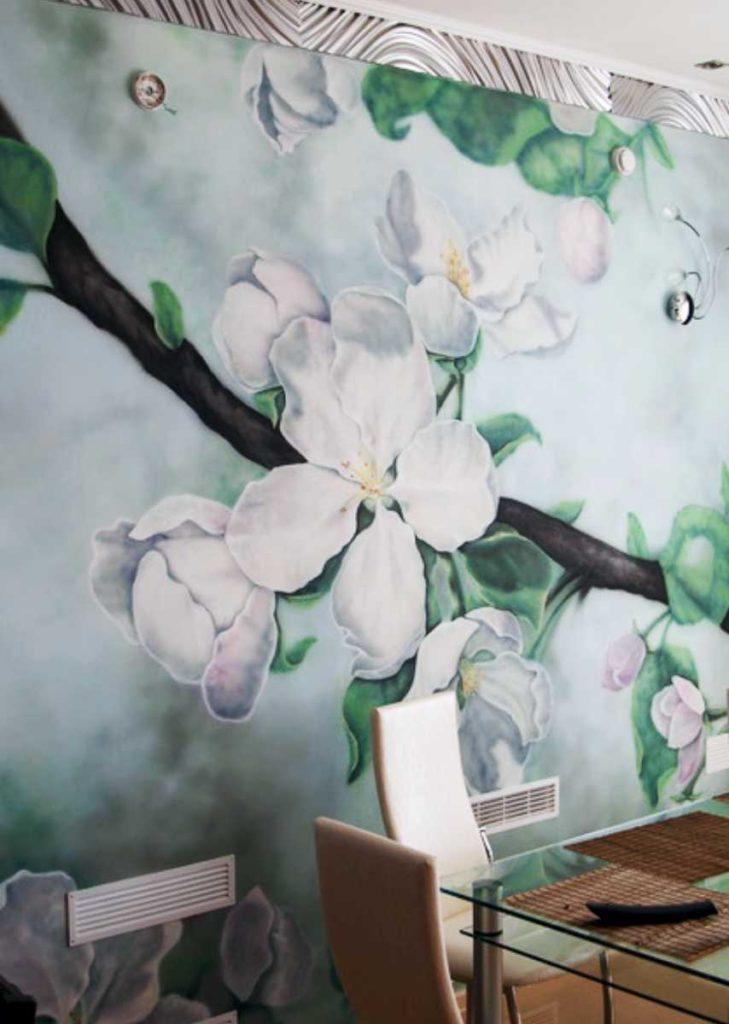 Роспись стен (ручная работа)