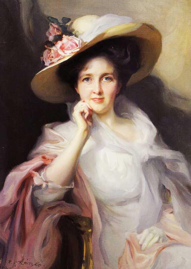 Портрет в образе (холст, масло, печать на холсте)
